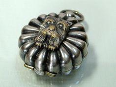 1920s Scottie Terrier coin box holder fob pendant