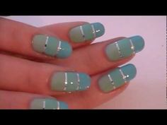 How to Striping tape + mintgroene nailart