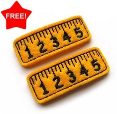 FREE Ruler Clip Cover FELT STITCHIES (in the hoop) + others
