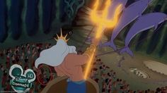 mickey mouse, donald duck, and goofy make a cameo in the little mermaid