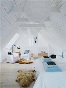 white & bright attic