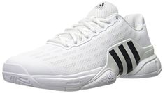 adidas Performance Men's Barricade 2016 Tennis Shoe, White/Collegiate Navy/Kurz Silver Foil, 10.5 M US ** Learn more by visiting the image link.