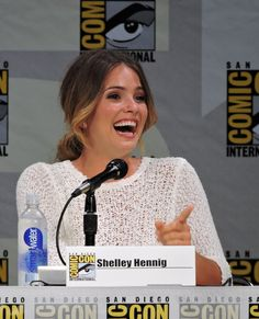 Shelley Hennig at TW panel SDCC 2014