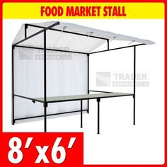 Food Market Stall Kit with Counter 2.4m x 1.8m Market Trade Stand Heavy Duty #UnbrandedGeneric