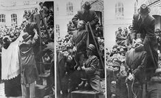 Hungarian Prime Minister Ferenc Szalasi is given the last rites before being hanged/strangled as a collaborator in Budapest, March 1946 Budapest, Rare Historical Photos, Horrible Histories, Last Rites, The Victim, World War Two, Real People, Hungary, Crime
