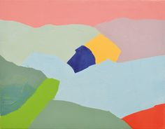 Untitled (2012) d'Etel Adnan. Courtesy of Private Collection Andrée Sfeir-Semler