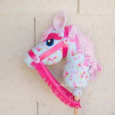Items similar to Charlie, Custom Handmade Hobby Horse / Stick Horse on Etsy Diy Arts And Crafts, Cute Crafts, Felt Crafts, Fabric Crafts, Unicorn Diy, Unicorn Party, Sewing For Kids, Diy For Kids, Projects For Kids