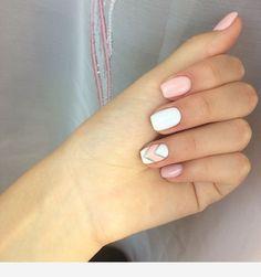 130 stylish short gel nail designs -page 39 > Homemytri. Summer Acrylic Nails, Cute Acrylic Nails, Cute Nails, Summer Nails, Hair And Nails, My Nails, Nagellack Design, Short Gel Nails, Nagel Hacks