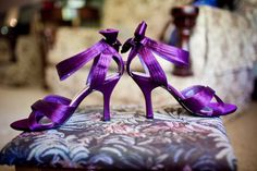I have such a fun wedding for you today- a masquerade ball style wedding! Held in Newcastle,the masquerade theme was more than just for fun for Madeline and Michael Purple Wedding Shoes, Purple Shoes, Purple Satin, Wedding Heels, Wedding Gowns, Exotic Wedding, Glamorous Wedding, Wedding Beauty, Plum Wedding