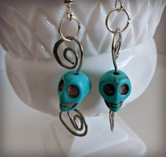 Handmade Earrings  Handmade Silver Wire  and by ConnieAndAllie, $7.00