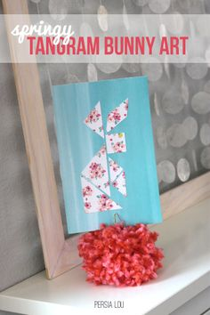 Super Cute and Super Easy Bunny Tangram Art for Spring by Persia Lou