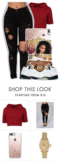 """•••"" by kickinback-andvibin ❤ liked on Polyvore featuring Casetify, Rolex and NIKE"