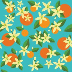 Orange Blossom Daydream fabric by creativefiasco on Spoonflower - custom fabric