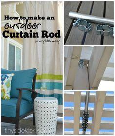 Beau DIY Outdoor Curtains Tutorial