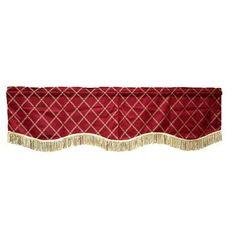 """Astoria Grand Bedford Damask Design 60"""" Curtain Valance Color: Burgundy"""