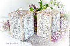 """Купить Набор кухонных коробов """"Настроение"""" - бледно-сиреневый, для кухни, кухонные аксессуары, кухонный набор"""