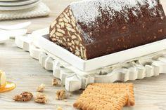 """Μωσαϊκό με μέλι, καρύδια και """"ΠΤΙ-ΜΠΕΡ"""" ΠΑΠΑΔΟΠΟΥΛΟΥ Cooking Time, Cooking Recipes, Chocolate Log, Fridge Cake, Biscuit Cake, Candy Recipes, Tiramisu, Biscuits, Sweet Tooth"""