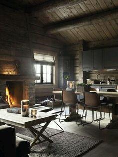 cosy log house