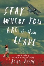 Stay Where You Are And Then Leave by John Boyne.The day WW1 broke out, Alfie Summerfield's father promised he wouldn't go away to fight - but he broke that promise the following day. Four years later, Alfie doesn't know where his father might be. Then, while shining shoes at King's Cross Station, Alfie unexpectedly sees his father's name - on a sheaf of papers belonging to a military doctor, his father is in a hospital close by. Alfie is determined to rescue his father.
