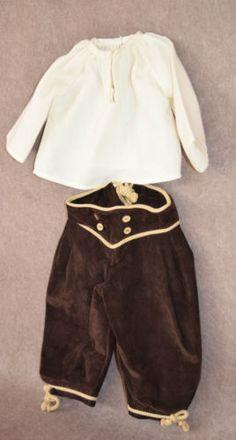 Trachtenanzug-echt-Leder-2-teilig-Puppenkleidung-f-Kuenstlerpuppe-Gr-6-876-33