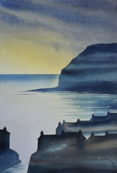 Paintings of the North Yorks Moors & Coast by Ian Scott Massie - Ian Scott Massie: painter and printmaker Watercolor Landscape Paintings, Watercolor Art, Acrylic Paintings, Paintings I Love, Nature Paintings, North York, Oil Painters, Coastal Art, Painting Inspiration