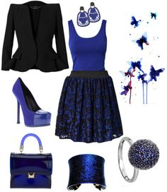 """""""Blue Butterflies"""" by daina-1127 on Polyvore"""