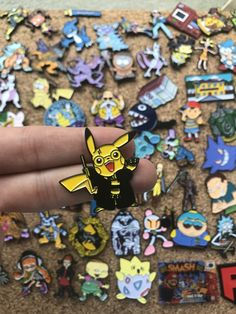 Pikachu x HP Yellow House Pokemon Custom Enamel Pin, Pins, Pin Badge, Enamel Pins, Custom Enamel Pin Pikachu, Pokemon, Harry Potter Pin, Cool Pins, Pin And Patches, Hat Pins, Handmade Items, Handmade Gifts, Pin Badges