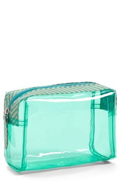 63246f7e609c Lulu Clear Cosmetic Bag (Juniors) Cos Bags, Cosmetic Pouch, Nordstrom,  Fragrance