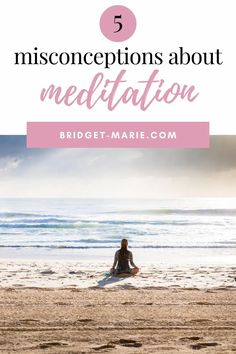 There are many misconceptions about meditation that stop people from starting this great practice. Here are a few of them explained.   #meditation #mindfulness