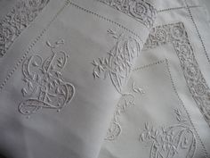 Pair French linen Pillow shams antique  French linen pillowcases   hand embroidered linen white linen pillow shams by LaBelleEpoqueFrance on Etsy https://www.etsy.com/listing/503777892/pair-french-linen-pillow-shams-antique