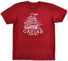 Caviar Cartel Ships Tee Logo Urban Sea Short Sleeve Mens Fashion Shirt Burgundy | eBay