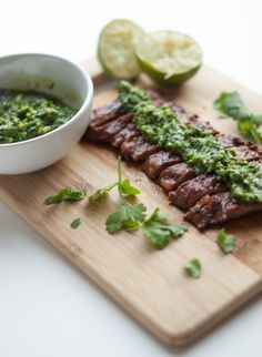 Mouthwatering Cilantro Lime Skirt Steak & Chimichurri Sauce