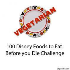 100 Disney VEGETARIAN Foods to Eat Before you Die Challenge