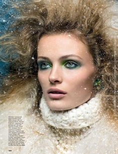 Edita Vilkeviciute is a Winter Beauty for Allure Russias December 2012 Cover Shoot by Raymond Meier