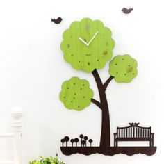 [Mo-ro Design] Tree's Dream Wooden Wall Clock Noise-free movement Eco Design DIY