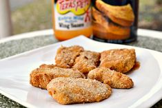 Baked Chicken Strips...this is the spicy version but I wonder if I swap the hot sauce for spicy mustard if it will work? I think I will try!