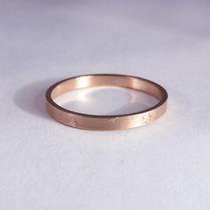 Wedding ring, Rose gold wedding ring, Star wedding ring, Women's wedding band, Stars gold ring, Skinny gold ring, Stacked wedding ring, 14K http://etsy.me/2mVv0Tj #jewelry #ring #rosegold #weddingring