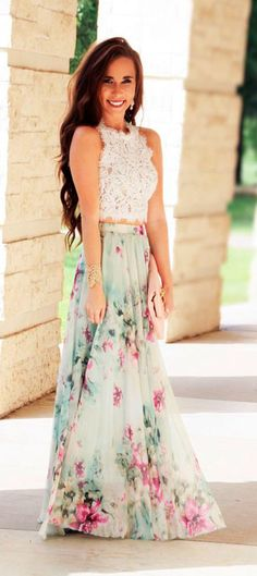 #floral on floral #watercolor #outfit