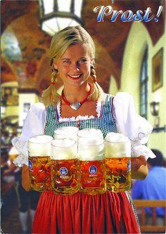 Oktoberfest in Munich, Germany Octoberfest Girls, German Oktoberfest, Beer Girl, German Beer, Beer Festival, German Girls, Beer Brewing, Beer Lovers, Munich