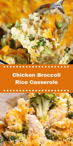 This Cheesy Chicken Broccoli Rice Casserole is an easy make ahead meal that you can Chicken Brocolli Rice Casserole, Chicken Broccoli Bake, Cheesy Chicken Rice Casserole, Easy Chicken And Rice, Chicken Rice Bake, Chicken Rice Recipes, Broccoli Recipes, Casserole Dishes, Chicken Broccoli Casserole Healthy