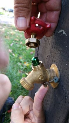 A cool geocache in Kitchener Ontario.  I might want a good hint though; you could get in trouble if you dismantled a tap that wasn't the cache!
