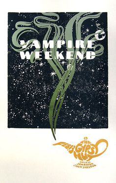 Vampire Weekend poster by Paul Coors (this is the best poster i have ever seen in my whole life and i want this so extremely badly)