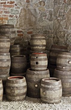 "Beer Barrels in Austria by ""Omnipotence Within"" Come and see our new website at bakedcomfortfood.com!"