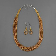 Wright's Indian Art: Amber Heishi & Bead Necklace by Josephine Coriz #fossilvintagerevival