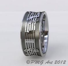 Music Notes Wedding Band, For my brother, Joey                Musical Notes wedding band.   I love this!!