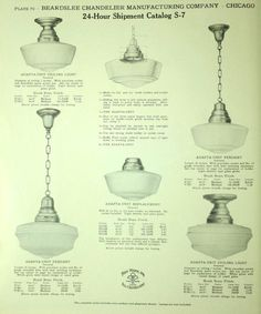 Chandelier Light Fixtures, c. 1910.  From the Association for Preservation Technology (APT) - Building Technology Heritage Library, an online archive of period architectural trade catalogs. Select your era or materials and flip through the pages.