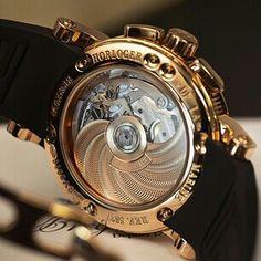 Breguet marine chronograph caseback