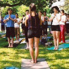 Diane Bruni in the Park Yoga, Park, Fitness, Dresses, Fashion, Gymnastics, Vestidos, Moda, Yoga Tips