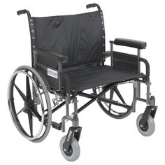 Drive Medical Sentra Reinforced Heavy Duty Wheelchair with Extra-Large Armrests, Silver