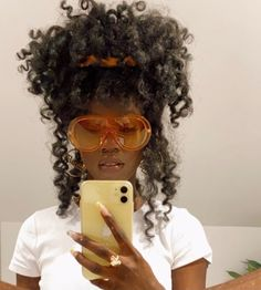 Baddie Hairstyles, Black Girls Hairstyles, Cute Hairstyles, Beautiful Black Girl, Pretty Black Girls, Black Girl Aesthetic, Aesthetic Hair, Dark Skin Beauty, Hair Beauty